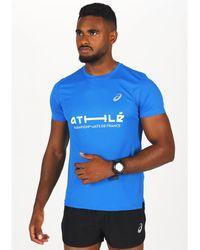 Asics Camiseta manga corta Silver SS Top France - Azul