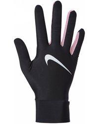 Nike Guantes Dry Lightweight Tech Run - Negro
