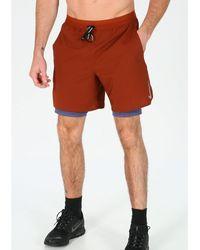 Nike Pantalón corto Flex Stride 2en1 - Rojo