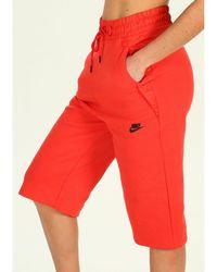 Nike Pantalón Tech Fleece - Rojo