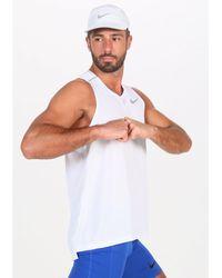 Nike Camiseta sin mangas blanca Miler - Blanco