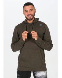 Reebok Sudadera CrossFit Double Knit Hoodie - Verde