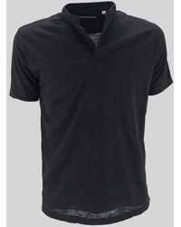 Daniele Alessandrini Korean Neck Polo Shirt - Black