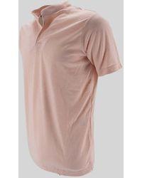 Daniele Alessandrini Korean Neck Polo Shirt - Pink