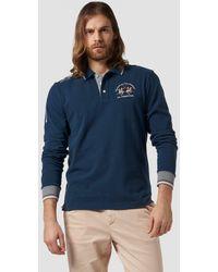 La Martina Long Sleeve Polo Shirt - Blue