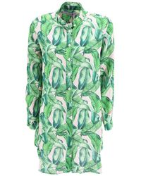Mc2 Saint Barth Korean Collar Dress Shirt - Green