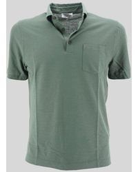 Heritage Polo Shirt With Pocket - Green