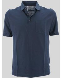 Heritage Polo Shirt With Pocket - Blue