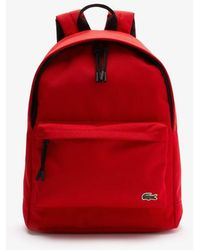 Lacoste Neocroc Canvas Backpack - Red