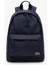 Lacoste Neocroc Backpack In Canvas For Men - Blue