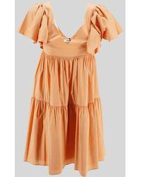 Jijil Flare Mini Dress - Orange
