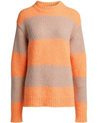 Tibi Cozette Striped Alpaca Sweater - Multicolor