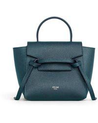 Celine Pico Grained Calfskin Belt Bag - Green