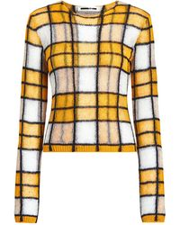 McQ Checked Knit Sweater - Yellow