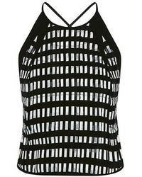 O'2nd - Lina Gingham Halter Tank - Lyst