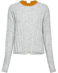 10 Crosby Derek Lam Bicolor Open Back Sweater - Gray