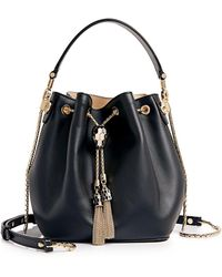 BVLGARI Serpenti Forever Bucket Bag - Black