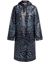 Ganni Tiger Print Biodegradable Raincoat - Multicolor