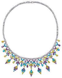 Fallon - Monarch Multi Stone Bib Necklace - Lyst
