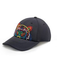 KENZO - Rainbow Tiger Embroidered Neoprene Cap - Lyst 2423260dc0