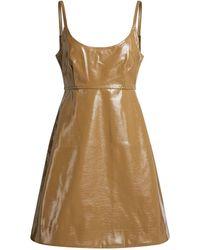 Ganni Patent Faux Leather Mini Dress - Multicolor
