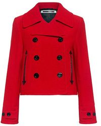 McQ Wool Peacoat - Red