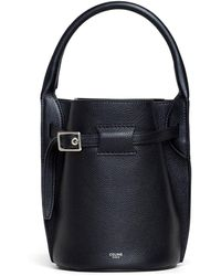 Celine Big Bag Supple Grained Calfskin Nano Bucket Bag - Black