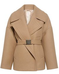 N°21 - Ysenia Wool And Cashmere Belted Peacoat - Lyst