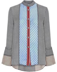 10 Crosby Derek Lam Bell Sleeves Button-down Blouse - Multicolor