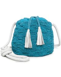 Sophie Anderson - Nappa Leather Portia Knotted Strap Knitted Bucket Bag - Lyst