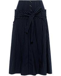 Marissa Webb Amber Pinstripe Skirt - Blue