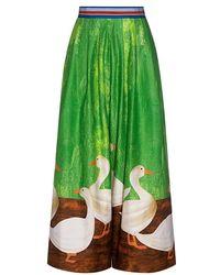 Stella Jean | Goose Wide-leg Cropped Pants | Lyst