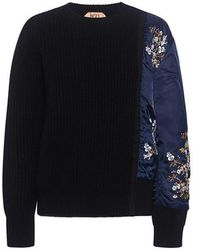 N°21 - Marina Floral Embroidery Combo Sweater - Lyst