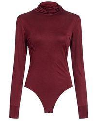 Sea - Midnight Silk Roll Neck Bodysuit - Lyst