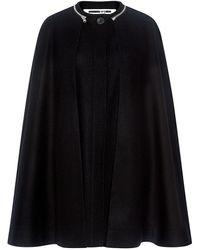 McQ Wool Cape - Black