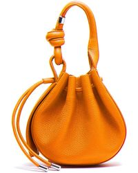 BEHNO Ina Mini Handcrafted Pebble Leather Crossbody Bucket Bag - Multicolor