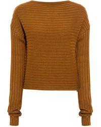 Tibi Merino Wool Cropped Sweater - Blue