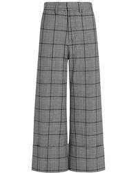 Sea - Bacall Plaid Cuffed Crop Pants - Lyst