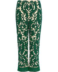 Ganni Colby Sequined Pants - Green