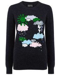 Markus Lupfer - Weather Cycle Sequin Emma Sweater - Lyst
