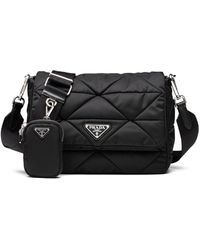 Prada - Padded Nylon Shoulder Bag - Lyst