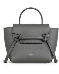 Celine Pico Grained Calfskin Belt Bag - Gray