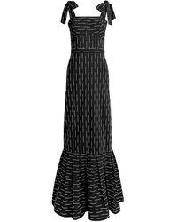 Alexis - Symphony Embroidered Striped Maxi Dress - Lyst