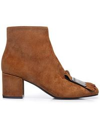 Pollini - Tassel Suede Ankle Boots - Lyst
