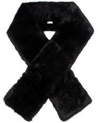 Carven Long Faux Fur Scarf - Black