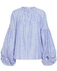 Stella Jean - Balloon Sleeve Striped Blouse - Lyst