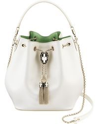 BVLGARI Serpenti Forever Bucket Bag - White