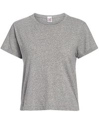 RE/DONE - The Classic Cropped Tee - Lyst