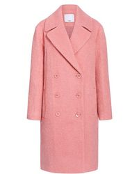 Tibi - Luxe Mohair Double Breasted Coat - Lyst