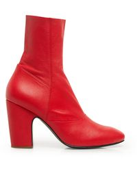 Rachel Comey Saco Kidskin Ankle Boots - Red